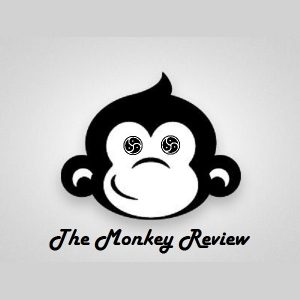 Just Monkey Business  Logo of monkey's head on great background for The Monkey Review
