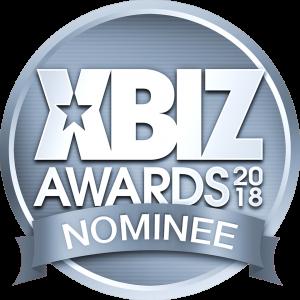 XBIZ Awards Nominee Logo in blue grey