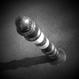 Black and white pic of a lighthouse style dildo